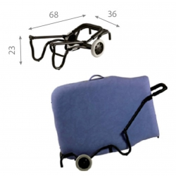 Chariot de transport Ecopostural Pour Tables Pliantes A4473
