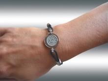 Bracelet energétique Energy Booster Acier et corde 24H - Taille S Enerme