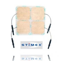 4 électrodes STIMEX carrées 50x50 mm Schwa-Medico