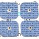 Electrodes Dura-Stick Plus snaps 50x50mm Cefar Compex
