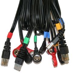 Cable 8P Compex pour connexion électrodes à snaps