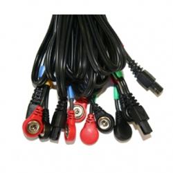 Cable 6P Compex pour connexion électrodes à snaps