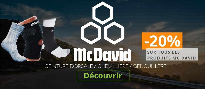 Profitez de -20% sur les produits Mc David